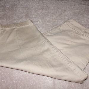 St. John's Bay Khaki Capri Pants